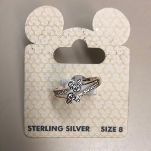 Sterling Silver Mickey Ring
